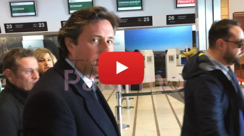 Palermo, FOLLIERI ARRIVA IN CITTÀ: Le immagini del suo arrivo in aeroporto – VIDEO 🎥