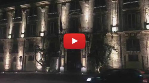 """Palermo, le luci di Palazzo d'Orleans si spengono per """"M'illumino di meno"""" 🎥 VIDEO"""