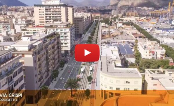 Nuove Linee del Tram di Palermo, ecco la tratta F che da Balsamo raggiungerà Giachery passando per il Foro Italico 🎥 VIDEO