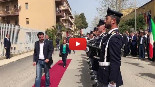 25 Aprile, Matteo Salvini a Corleone inaugura il nuovo Commissariato 🎥 VIDEO