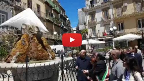 Palermo, torna a splendere la Fontana del Genio di piazza Rivoluzione 🎥 IL VIDEO