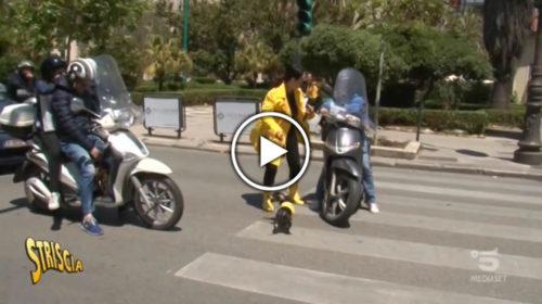 """Striscia la Notizia, Lo """"Stop"""" a Palermo 📺 VIDEO 🎥"""