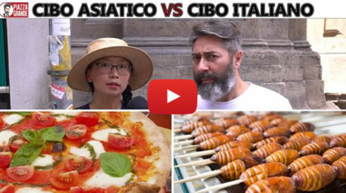 Cibo asiatico VS cibo italiano, due culture culinarie a confronto: ecco le esilaranti interviste di Stefano Piazza 🎥 VIDEO
