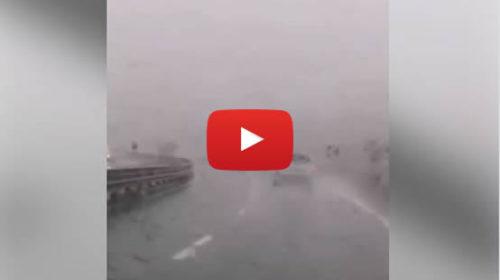 Pioggia intensa sulla A19 Palermo – Catania: le immagini 🎥 VIDEO