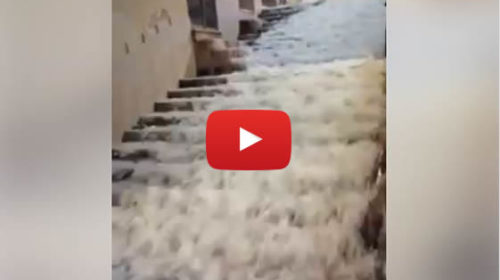 Forte maltempo in Sicilia, strade come fiumi nell'Agrigentino 🎥 VIDEO