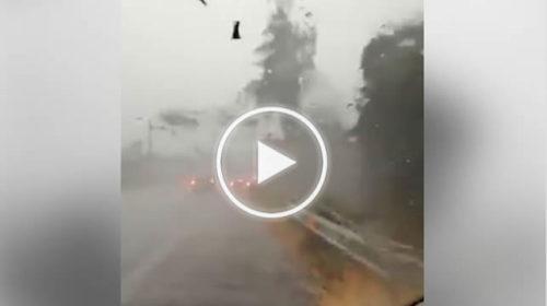 Situazione LIVE: Intenso temporale con grandine nell'autostrada Catania-Messina | VIDEO 📹