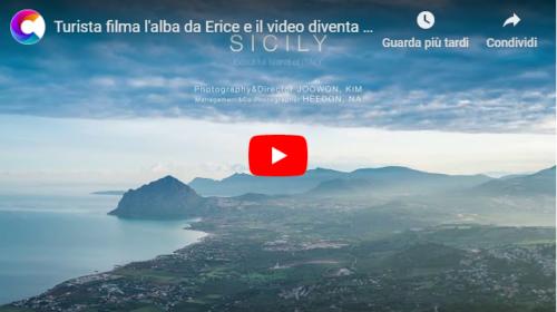 Turista filma l'alba da Erice e il VIDEO diventa subito virale sul web 📹
