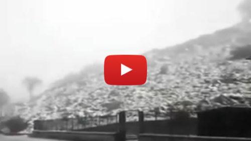 Bufera di neve e vento a Piano Battaglia: le immagini ❄ VIDEO