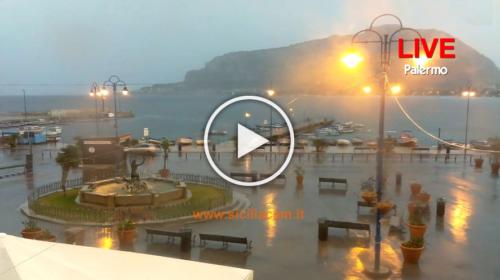 Temporali in atto su Palermo, ecco le immagini IN DIRETTA ⚡