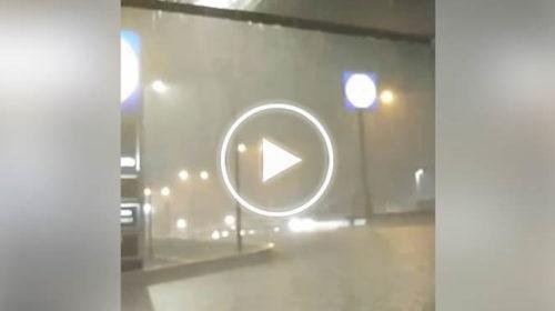 Forte temporale in atto su Augusta con pioggia fittissima | IL VIDEO 📹