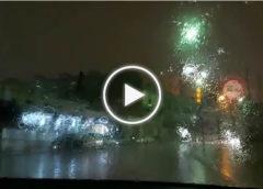 Piogge intense nella notte su Palermo, le immagini da via Messina Marine   VIDEO 📹