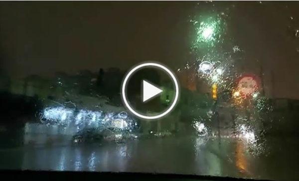 Piogge intense nella notte su Palermo, le immagini da via Messina Marine | VIDEO 📹