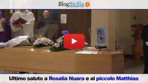 Palermo, ultimo saluto a Rosalia Nuara e al piccolo Matthias: il VIDEO dei funerali