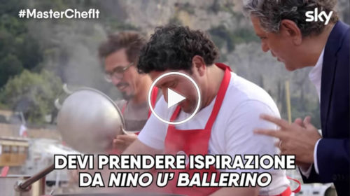 "Masterchef 9, esilarante siparietto fra Luciano e lo Chef Locatelli: ""Devi fare come Nino u' Ballerino"" 