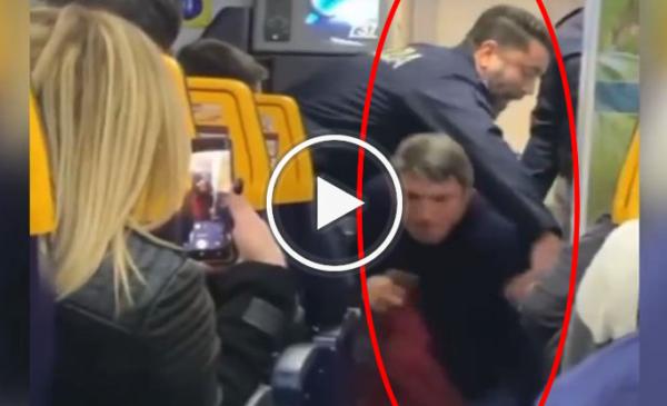 Lite su aereo Ryanair prima del decollo, passeggero blocca volo per Roma | IL VIDEO 📹