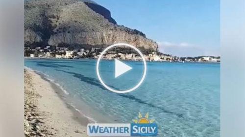 Mondello d'inverno 13 Gennaio 2020: le spettacolari immagini dalla spiaggia | VIDEO 📹