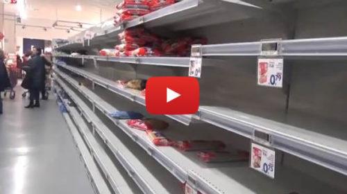 Palermo, Coronavirus: supermercati presi d'assalto e scaffali vuoti 📹 VIDEO