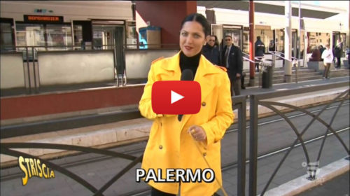 Striscia la Notizia, le mille sfortune del Tram di Palermo | VIDEO 📺
