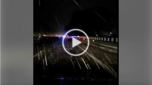 Situazione LIVE: grandine in atto sull'autostrada A19 nei pressi di Casteldaccia | VIDEO 📹