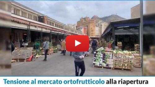 Tensione al mercato ortofrutticolo a Palermo, sputi contro gli agenti della polizia municipale 📹 VIDEO