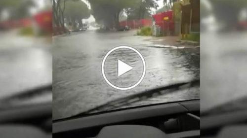 Maltempo su Palermo, allagamenti lungo Via Ugo la Malfa | IL VIDEO 📹