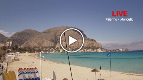 Mondello IN DIRETTA, le spettacolari immagini dalla spiaggia 📹 VIDEO