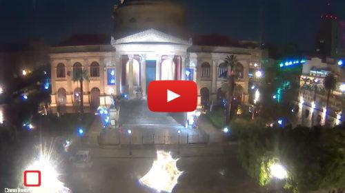 Maltempo su Palermo, le immagini IN DIRETTA da Piazza Verdi