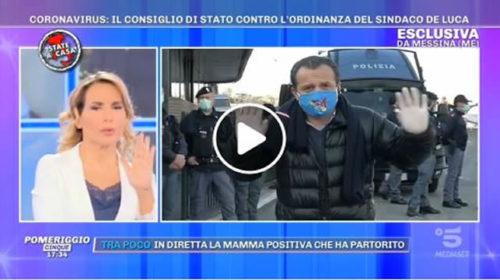 Il sindaco Cateno De Luca parla a 'Pomeriggio 5' dopo le novità dal Consiglio di Stato 📺 VIDEO