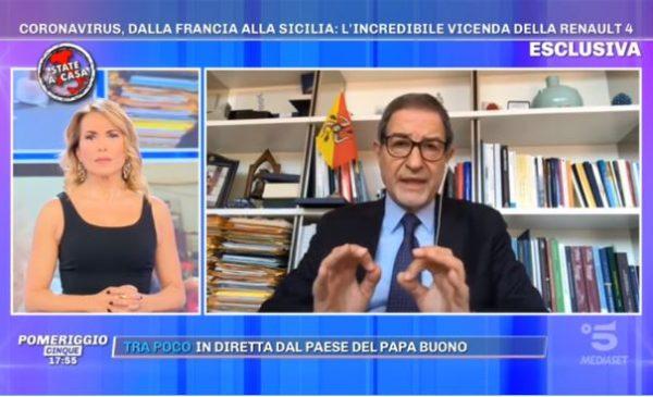 """Botta e risposta a """"Pomeriggio 5"""" fra i ragazzi della Renault 4 e il Presidente Musumeci 📺 VIDEO"""
