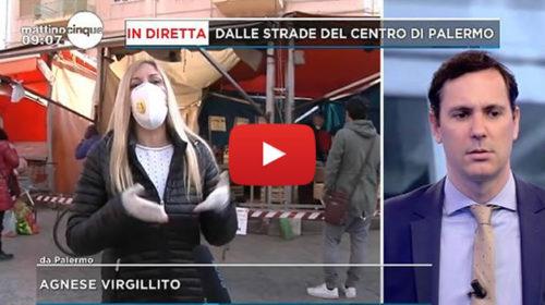 """Coronavirus, le telecamere di """"Mattino 5"""" in DIRETTA dal mercato di Ballarò   VIDEO 📺"""