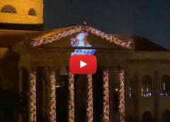 Proiezione a sorpresa sul Teatro Massimo di Palermo: Santa Rosalia illumina la città in quarantena   VIDEO 📹