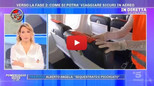 """""""Pomeriggio 5"""" in diretta dall'aeroporto di Palermo mostra come si viaggerà 📺 VIDEO"""