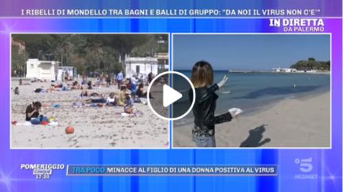 """Le telecamere di """"Pomeriggio 5"""" a Mondello: ecco cosa è consentito fare in spiaggia 📹 VIDEO"""