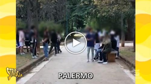 Giovani e distanze non mantenute, Stefania Petyx in giro per Palermo smaschera tanti assembramenti   VIDEO 📺