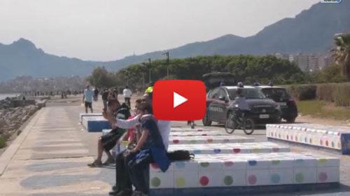 Palermo, le immagini dal Foro Italico oggi pieno di gente: aumentano i controlli | VIDEO 📹