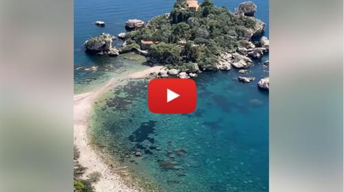 Domenica a Taormina, le spettacolari immagini da Isola Bella 📹 VIDEO