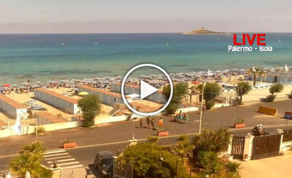 Palermo, le spettacolari immagini IN DIRETTA dalla spiaggia di Isola delle Femmine (Pa) 📹 VIDEO