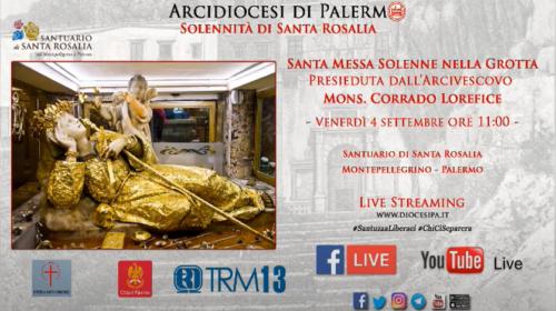 Palermo, solennità di Santa Rosalia: segui IN DIRETTA la S. Messa nella Grotta 📹 VIDEO