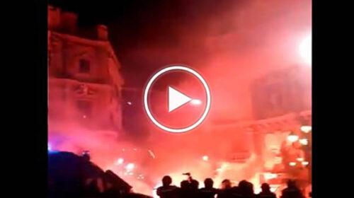 Scontri violenti a Palermo contro il nuovo Dpcm: degenera la manifestazione ai Quattro Canti – VIDEO