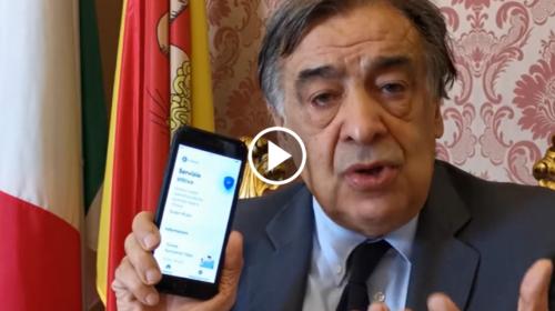 """Il Sindaco di Palermo Orlando: """"Io ho installato la App Immuni e vi invito a farlo"""" 📹 VIDEO"""