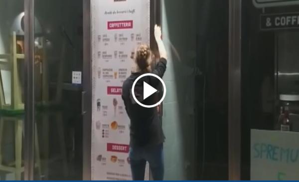 Ore 18, si spengono le luci e si abbassano le saracinesche di bar e ristoranti a Palermo – VIDEO