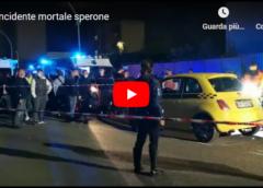 VIDEO   Incidente mortale allo Sperone: pedone viene travolto da una Fiat 500