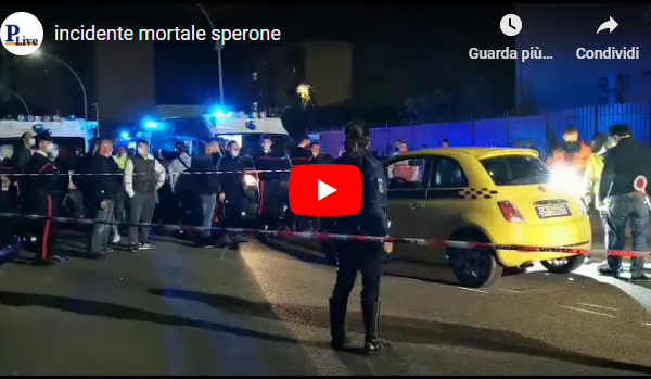 VIDEO | Incidente mortale allo Sperone: pedone viene travolto da una Fiat 500