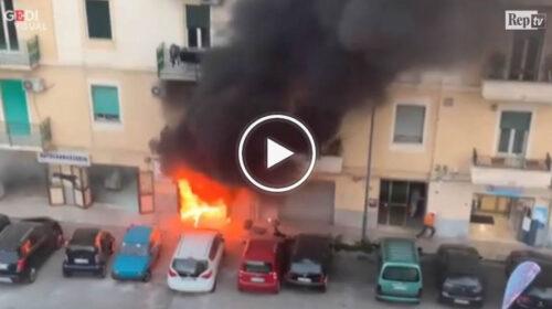 Palermo, incendio in un'autocarrozzeria: i terribili momenti prima dell'arrivo dei pompieri | VIDEO