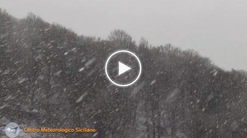 Bufera di neve a Piano Battaglia (PA): le spettacolari immagini – VIDEO