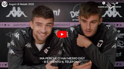 I giocatori del Palermo chiamano i tifosi per gli auguri: ecco la loro emozione – VIDEO