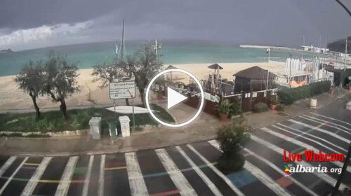 Temporali in atto a nord di Palermo: le immagini IN DIRETTA – VIDEO