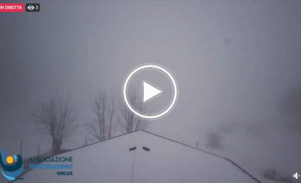 Palermo, netto calo termico: nevicate in corso a Piano Battaglia – VIDEO