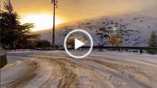 Suggestivo tramonto invernale a Piano Battaglia (PA) – VIDEO ❄🌄😍