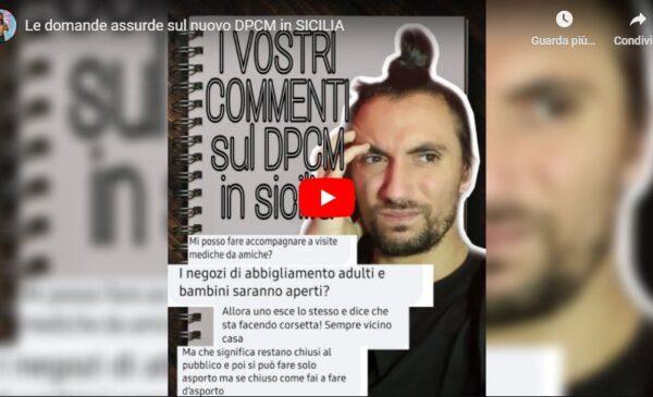 """""""Le vostre domande assurde sul nuovo DPCM in SICILIA"""", l'esilarante VIDEO di Chris clun"""